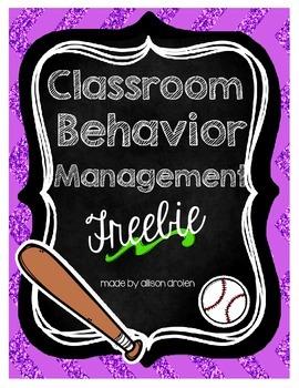 Classroom Behavior Management System Sports Edition