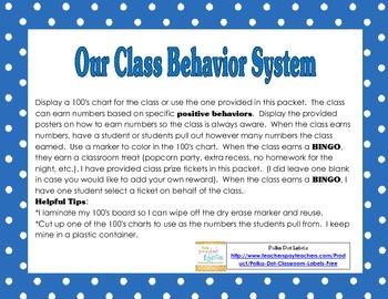 Classroom Behavior Management System with Reward Tickets