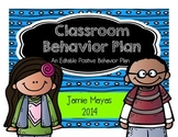 Classroom Behavior Plan {An Editable Positive Behavior Plan}