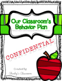Classroom Behavior Plan: CONFIDENTIAL