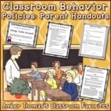 Classroom Behavior Policies