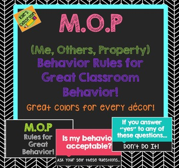 Classroom Behavior Poster Set- Classroom Rules