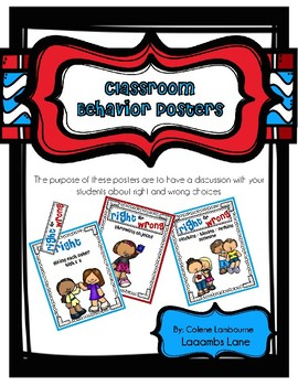 Classroom Behavior Posters