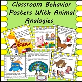 Classroom Behavior Posters with Animal Analogies
