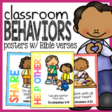 Classroom Behavior Posters with Bible Verses