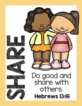 Classroom Behavior Posters with Bible Verses