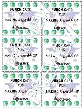 Classroom Behavior Punch Cards