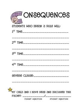 Classroom Behavior Record