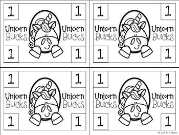 Classroom Behavior Reward System - Unicorn Bucks