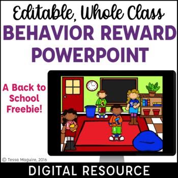 Classroom Management Behavior Reward System for Back to School {Freebie}