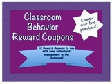 Classroom Behavior Rewards / Coupons