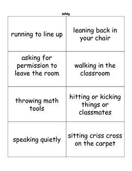 Classroom Behavior Scenarios and Sorts