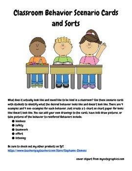 Classroom Behavior Scenarios and Sorts