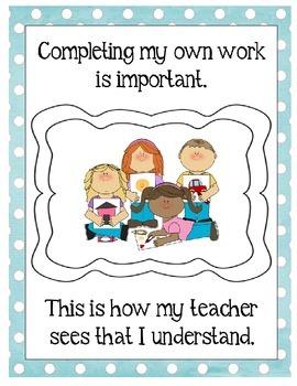 Classroom Behavior Social Story (Editable Option Included)