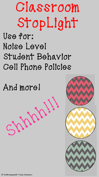 Classroom Behavior Stoplight ~ Visual Cue
