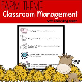 Classroom Behavior System Farm or Western Theme