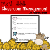 Classroom Behavior System Farm or Western Theme