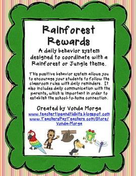 Classroom Behavior Management System Rainforest or Jungle Theme