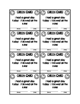 Classroom Behavior System for Early Elementary