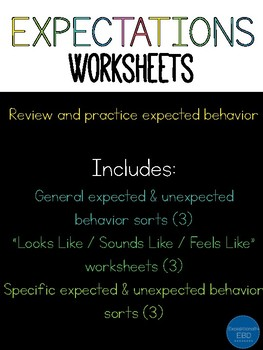 Classroom Rules Worksheet | Teachers Pay Teachers