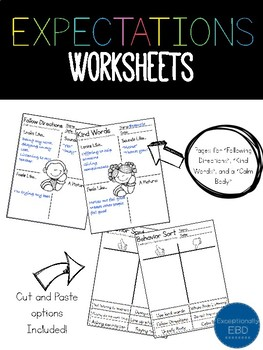 Classroom Rules Worksheets