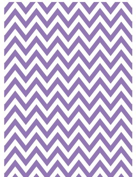Purple chevron printable
