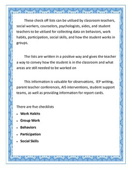 Classroom Behavioral Data Collection