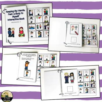 Classroom Behaviors & Hands to Self Interactive Book Set #flavoroftheday