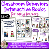 Classroom Behaviors & Hands to Self Interactive Book Set