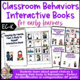 Classroom Behaviors & Hands to Self Interactive Book Set