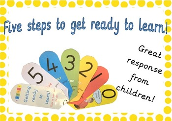Classroom Behaviour Management Tool- 5 steps to get ready to learn fan!