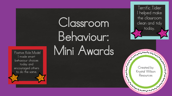 Classroom Behaviour: Mini Awards