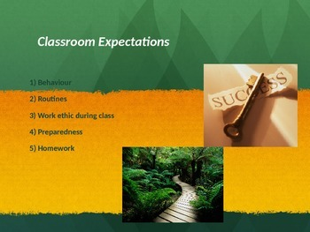 Classroom Behaviour and Expectations