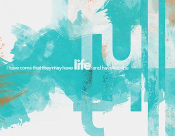 Classroom Bible Poster - John 10:10