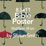Classroom Bible Poster - Matthew 18:20
