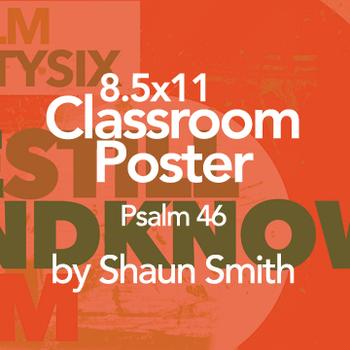 Classroom Bible Poster - Psalm 46