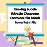 Growing Bundle Printable Classroom Bin Labels