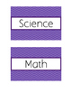 Classroom Bin Labels (Chevron - Purple)