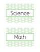 Classroom Bin Labels (Green Polka Dot)
