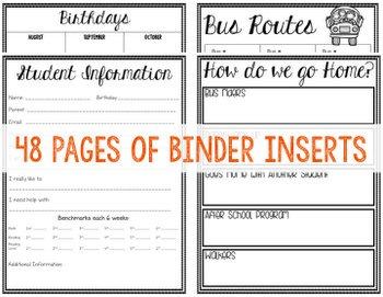Classroom Binder