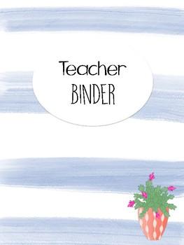 Classroom Binder Covers Cactus Theme