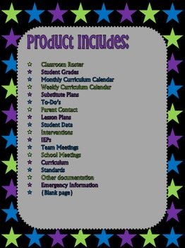 Classroom Binder Organization {Editable}