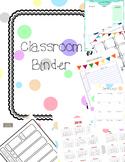 Classroom Binder/Teacher Planner, polka dots organize your papers!