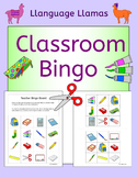 School Bingo for EFL ESL EAL MFL