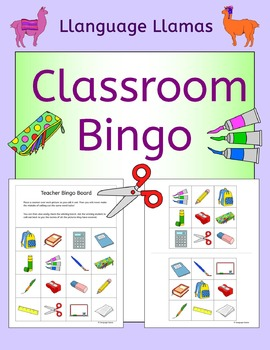 School Bingo for EFL ESL EAL MFL
