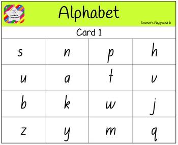 Classroom Bingo - Alphabet