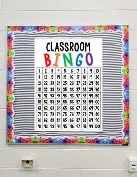 Classroom Bingo Board