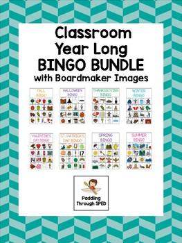 Classroom Bingo Bundle - Boardmaker SPRING Bingo