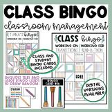Classroom Management Bingo | Farmhouse Theme | EDITABLE |