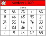 Classroom Bingo - Numbers 1-100